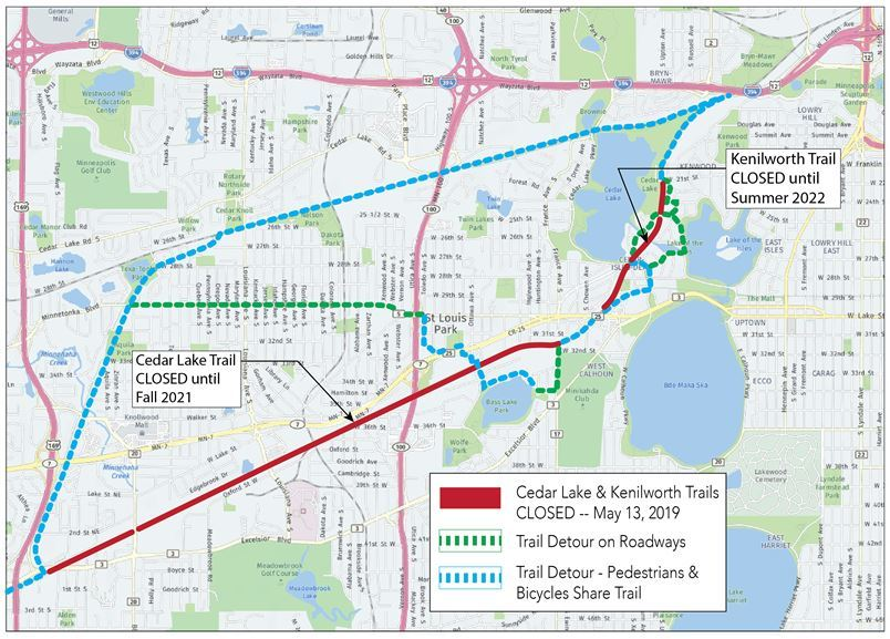 Cedar Lake Trail closing starting May 13 till 2021